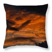Saturday Sunset Throw Pillow