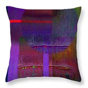Saturn Abstract Throw Pillow