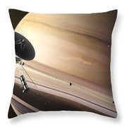 Saturn Flyby Throw Pillow