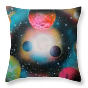 Saturn Galaxy Throw Pillow