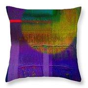 Saturn Lavender Throw Pillow