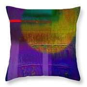 Saturn Lavender Throw Pillow