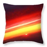 Saturn On Earth Sunset Throw Pillow