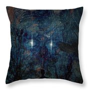 Saturnine Night Throw Pillow