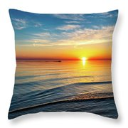 Sauble Beach Sunset 4 Throw Pillow