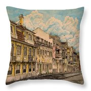 Saudade/ The Swallows Of Lisbon Throw Pillow