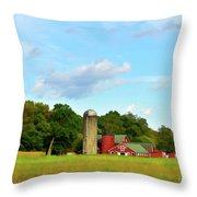 Sauer Farm, Mt. Marion Throw Pillow