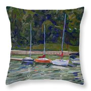 Saugeen Sails Throw Pillow