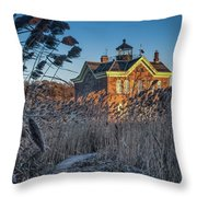 Saugerties Lighthouse  Throw Pillow