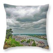 Saumur, Chateau, Loire, France Throw Pillow