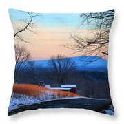 Sauratown View In Winter Throw Pillow