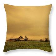 Sauvie Island Barn Throw Pillow