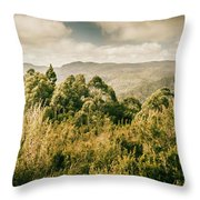 Savage River Lookout, Tarkine, Tasmania Throw Pillow