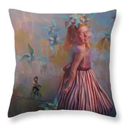 Savanah At Play Throw Pillow