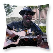 Savanna Blues Man Throw Pillow