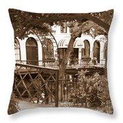 Savannah Arches In Sepia Throw Pillow