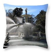 Savannah Fountain Throw Pillow
