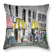 Savannah Georgia River Street 2 Painting Art Throw Pillow