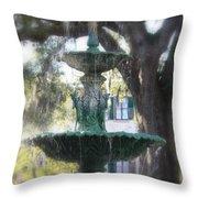 Savannah Green Throw Pillow
