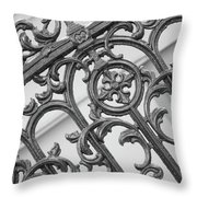 Savannah Pattern Black And White Throw Pillow