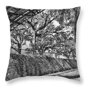Savannah Perspective - Black And White Throw Pillow