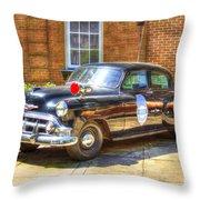 Savannah Police Car 1953 Chevrolet  Throw Pillow