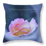 Savannah Rose 3 Throw Pillow