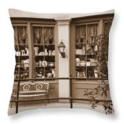 Savannah Sepia - Antique Shop Throw Pillow