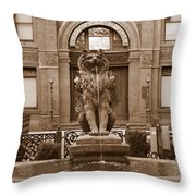 Savannah Sepia - Cotton Exchange Building Throw Pillow
