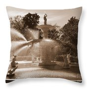 Savannah Sepia - Forsyth Fountain Throw Pillow