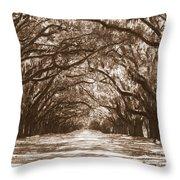 Savannah Sepia - Glorious Oaks Throw Pillow
