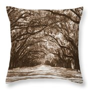 Savannah Sepia - Glorious Oaks Throw Pillow