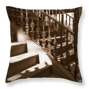 Savannah Sepia - Stairs Throw Pillow