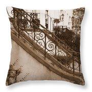 Savannah Sepia - Stoops Throw Pillow