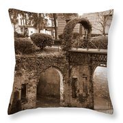 Savannah Sepia - River Walk Throw Pillow