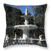Savannah Square Fountain Throw Pillow