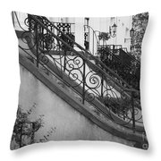 Savannah Stoops - Black And White Throw Pillow
