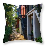 Savannah Streets Throw Pillow