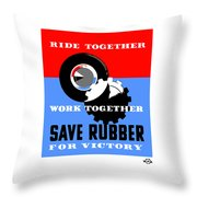 Save Rubber For Victory - Wpa Throw Pillow