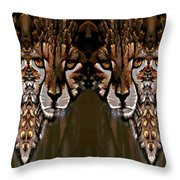 Save The Cheetahs Throw Pillow