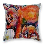 Save The Rhinos Throw Pillow