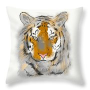 Save The Tiger Throw Pillow