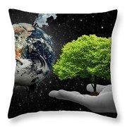Save Tree Throw Pillow