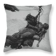 Saved, 1889 Throw Pillow
