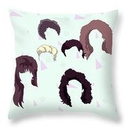 Saved By The Hair Throw Pillow
