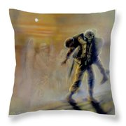 Savior In A Storm Throw Pillow