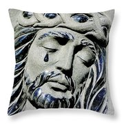 Saviours Sorrow Throw Pillow