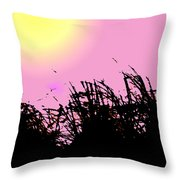 Saw Grass Throw Pillow