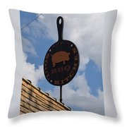 Saws Bbq And Soul Food Throw Pillow