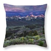 Sawtooth Sunrise Throw Pillow